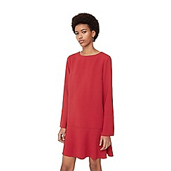 Mango - Red 'Alexa' fluted hem dress