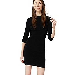 Mango - Black 'Paladio' fitted jersey dress