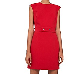 Mango - Red 'Donna' detachable belt dress
