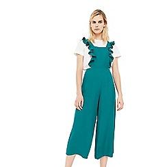 Mango - Green 'Frills' ruffled jumpsuit