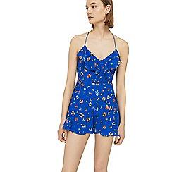 Mango - Blue 'Dixon' floral print playsuit