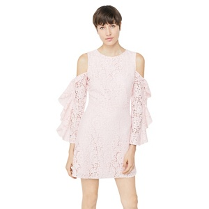 Mango Pink 'Sorpresa' cold shoulder dress