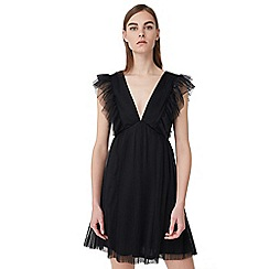 Mango - Black 'Pic8' tulle dress