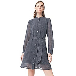 Mango - Blue 'Nuria2' belted shirt dress