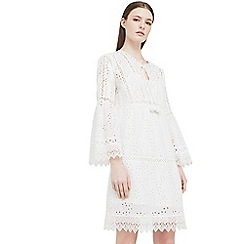 Mango - White 'Vovest' openwork dress