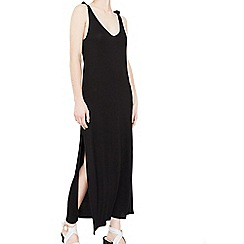 Mango - Black 'Llestir' side slit long dress