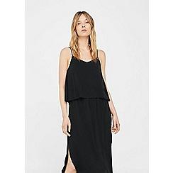 Mango - Black 'Sund' double layered dress