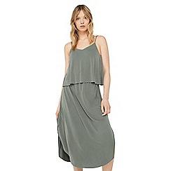 Mango - Khaki 'Sund' double layered dress