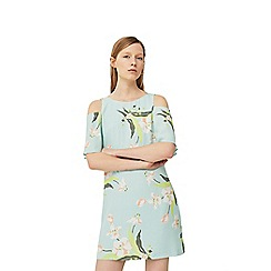 Mango - Blue 'Liria' floral print dress