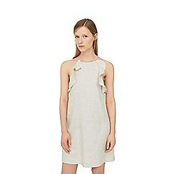 Mango - Natural 'Soleil' linen dress