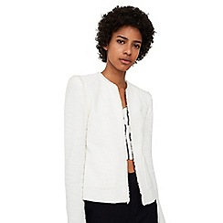 Mango - White 'Rocky' frayed edges jacket