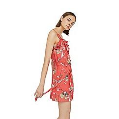 Mango - Coral 'Marsi' floral print dress