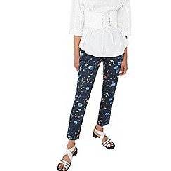 Mango - Blue 'Alanopi' floral print trousers