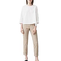 Mango - Beige 'David' check print trousers