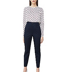 Mango - Blue 'Isabelo' high waist cotton trousers