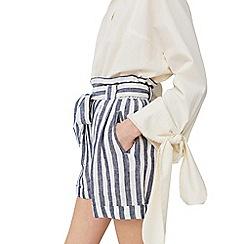 Mango - Multi-coloured 'Baguette' stripes shorts