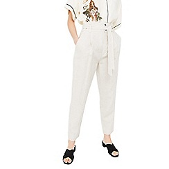 Mango - Natural 'Lolo' linen trousers