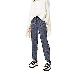 Mango - Blue 'Fluide' spot print trousers