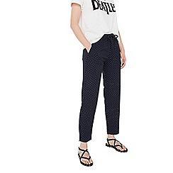 Mango - White 'Fluide' spot print trousers