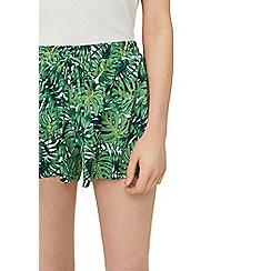 Mango - Green 'Valley' printed shorts