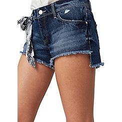 Mango - Blue 'Vicky' denim shorts