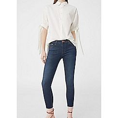 Mango - Blue skinny cropped jeans