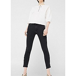 Mango - Black 'Ecotatoo' skinny cropped jeans
