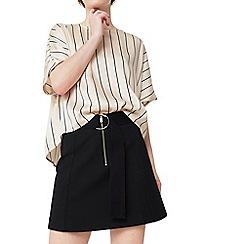 Mango - Black 'Salva' zip skirt