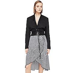 Mango - Black 'Pretty' gingham print skirt