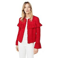 Mango - Red 'Apple' ruffled jacket