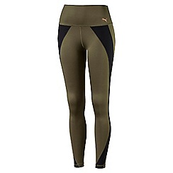 Puma - Olive PWRSHAPE tights