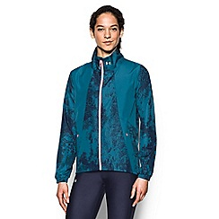 Under Armour - Blue printed running jacket