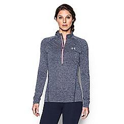Under Armour - Blue 'Tech ' twist 1/2 zip long sleeve sweat shirt
