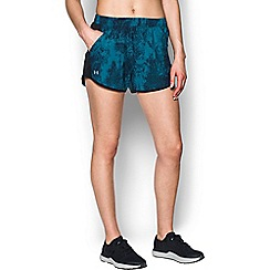 Under Armour - Blue 'Fly-By' perforated jogger shorts