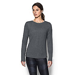 Under Armour - Black 'Threadborne ' twist long sleeves t-shirt