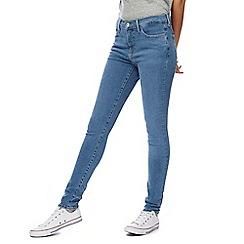Levi's - Light blue '310' mid-wash super skinny shaping jeans