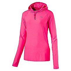 Puma - Women's Bright pink Run hooded top