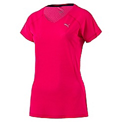 Puma - Women's Bright pink Core-Run t-shirt