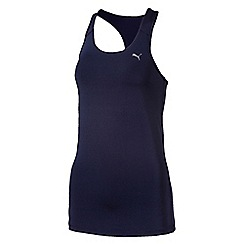 Puma - Women's Navy essential racer back tank top