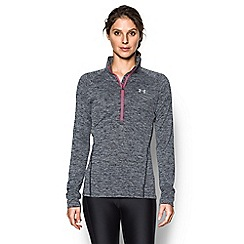 Under Armour - Grey logo print 1/2 zip