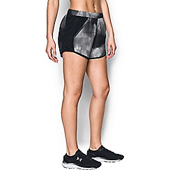 Under Armour - Black 'Fly-By' perforated jogger shorts