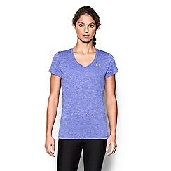 Under Armour - Purple 'Tech ' twist v-neck t-shirt