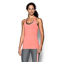 Under Armour - Orange 'HeatGear®' racer back tank top