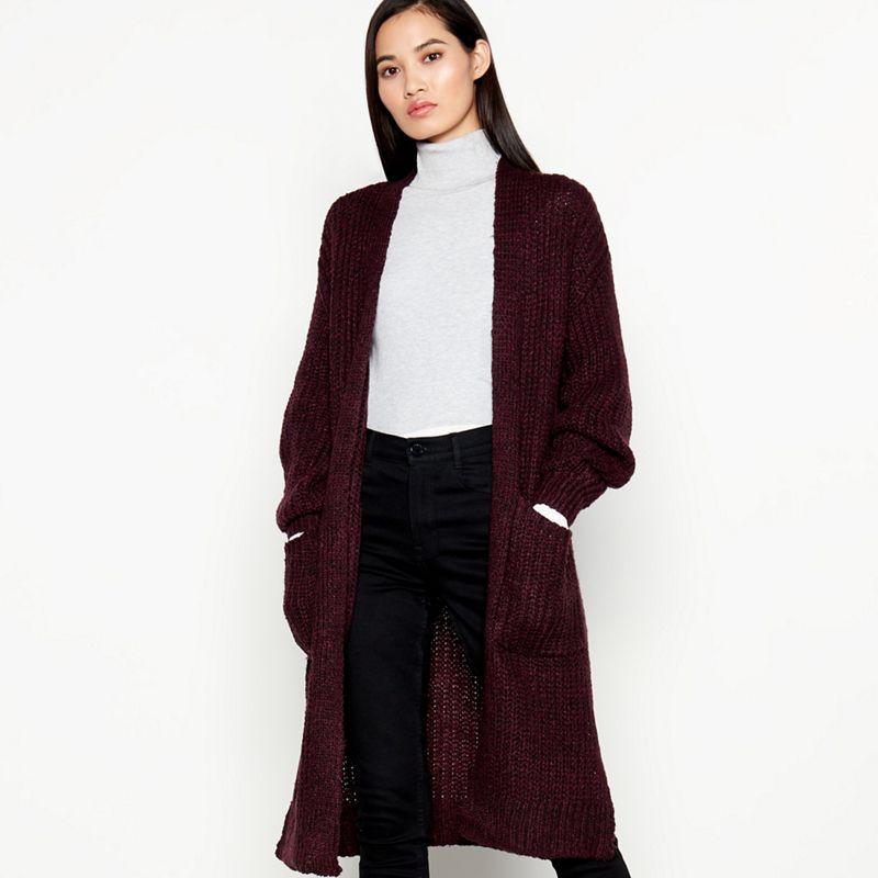 Vero Moda - Purple Chunky Knit Coatigan