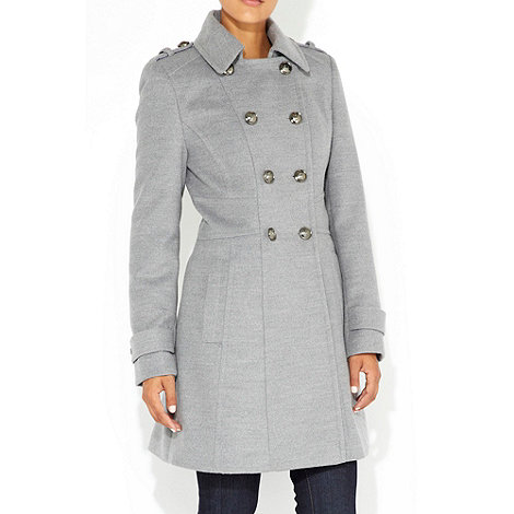 Wallis - Grey military coat