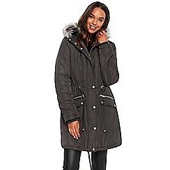 Ladies grey padded coat