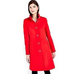 Wallis - Red funnel coat