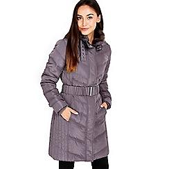 Wallis - Mink buckle midi coat