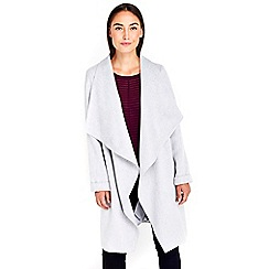 Wallis - Silver waterfall coat