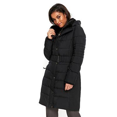 Wallis Black ella padded coat | Debenhams